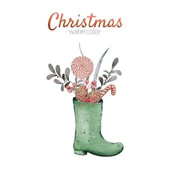 Niedliche illustration der aquarell-weihnachten