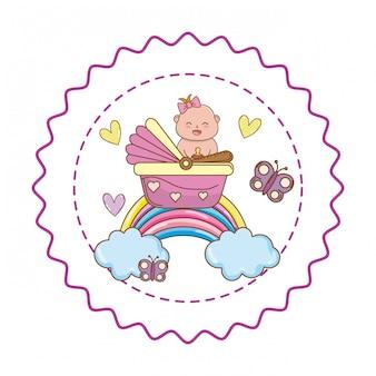 Niedliche illustration der babyparty