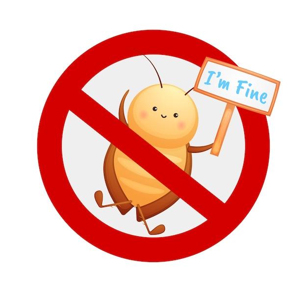 Niedliche keine kakerlake zeichen zeichentrickfigur