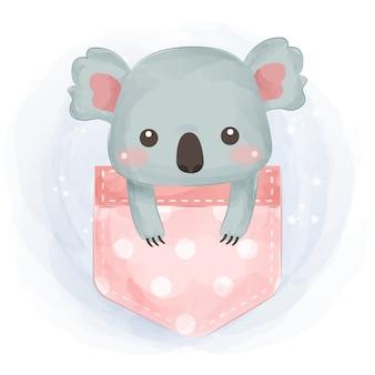 Niedliche koalaillustration