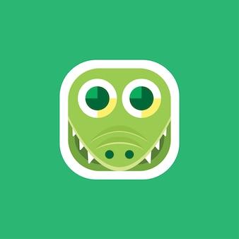 Niedliche krokodil app icons logo