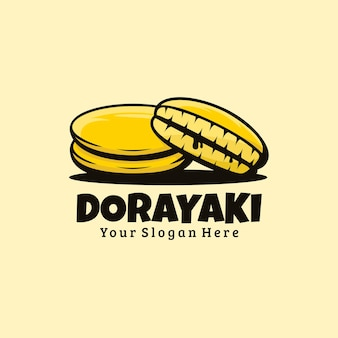 Niedliche logo-dorayaki-illustration