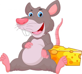 Niedliche Mäusekarikatur