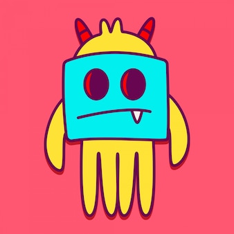 Niedliche monster charaktervorlagen