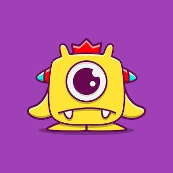Niedliche monster-zeichentrickfigur