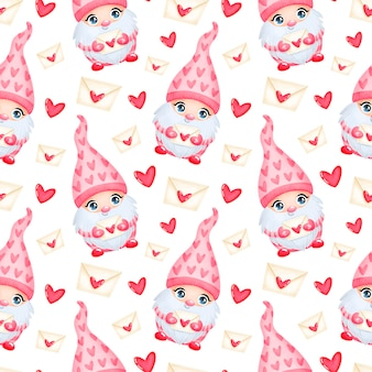 Niedliche muster des niedlichen musters des niedlichen karikatur-valentinstags in der liebe