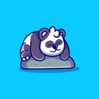 Niedliche panda schlafende illustration