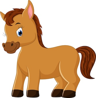 Niedliche pferde cartoon