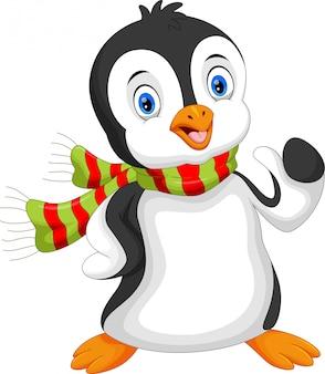 Niedliche pinguinkarikatur