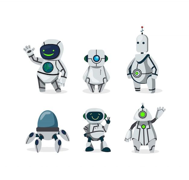 Niedliche roboter eingestellt