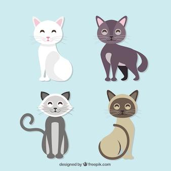 Niedliche schwarze katze freier illustration