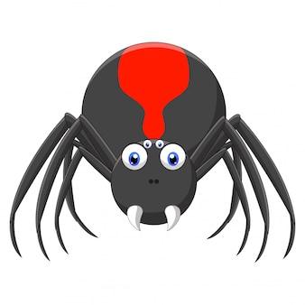 Niedliche schwarze spinnentierkarikatur
