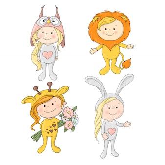 Niedliche tiere der karikatur für baby