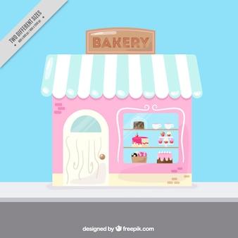 Niedliche vintage bäckerei hintergrund