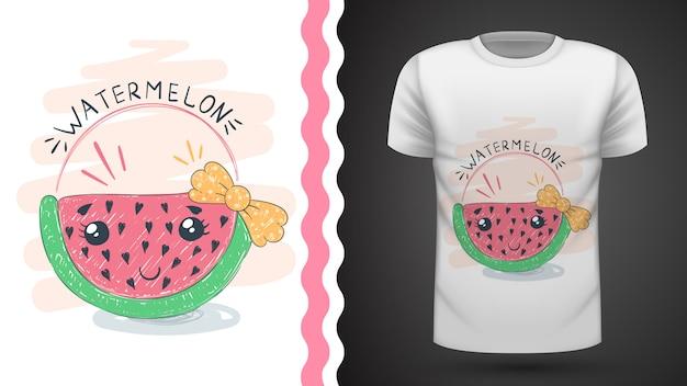 Niedliche wassermelone - idee für druckt-shirt