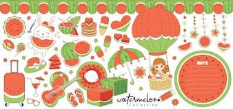 Niedliche Wassermelonenkollektion