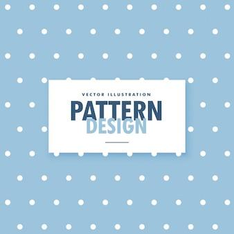 Niedlichen blauen hintergrund mit weißen polka-kreis punkte