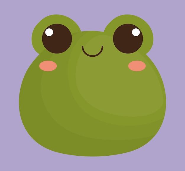 Niedlichen frosch tier symbol