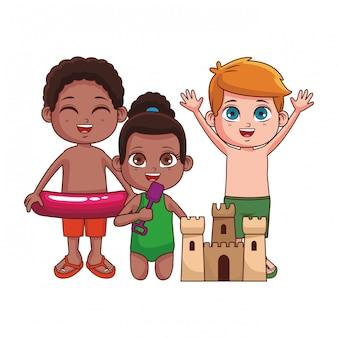 Niedlichen kinder-cartoon