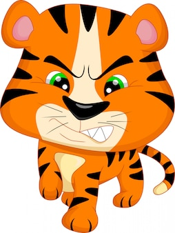 Niedlicher baby-tiger-cartoon