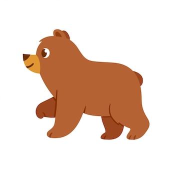 Niedlicher babybärn-cartoon