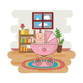 Niedlicher babyparty-cartoon