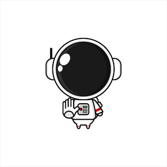 Niedlicher cartoon-astronaut kawai