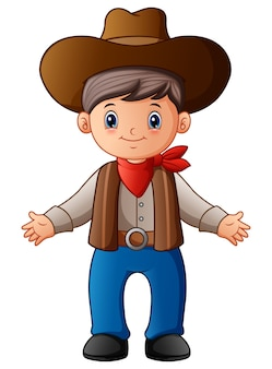 Niedlicher cartoon cowboy