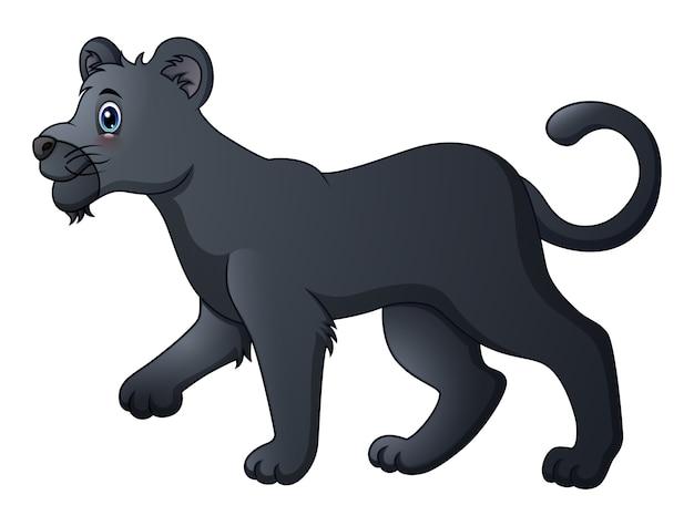 Niedlicher cartoon des schwarzen panthers