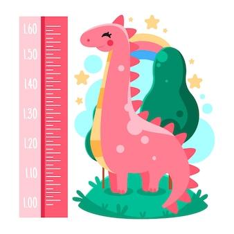 Niedlicher cartoon-höhenmesser für kinder