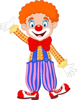 Niedlicher clown cartoon