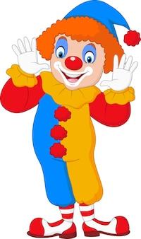 Niedlicher clown cartoon