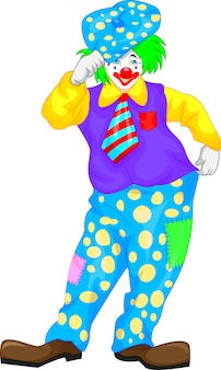 Niedlicher clown-cartoon