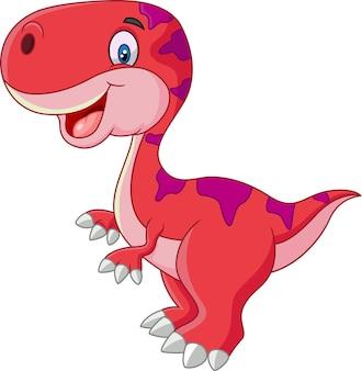 Niedlicher dinosaurier cartoon