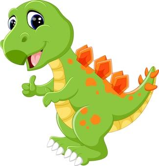 Niedlicher dinosaurier der karikatur