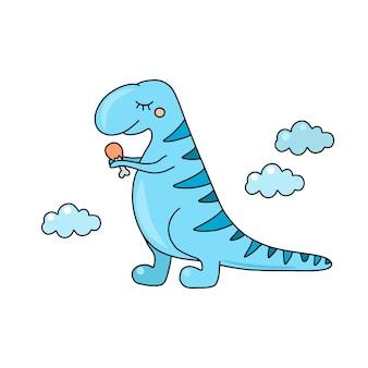 Niedlicher dinosaurier t rex
