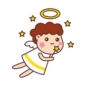 Niedlicher engel cartoon