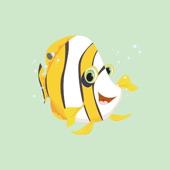 Niedlicher engel fisch cartoon