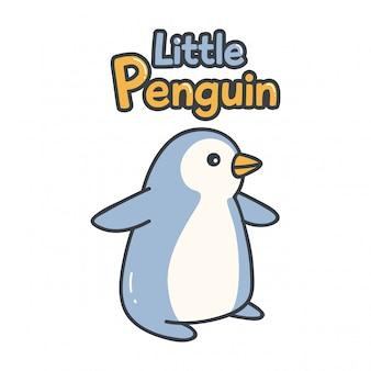 Niedlicher entwurf mit pinguin