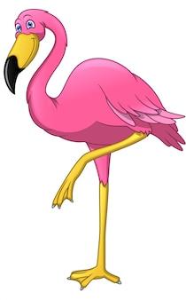 Niedlicher flamingovogel-cartoon