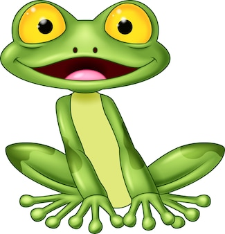 Niedlicher frosch der karikatur