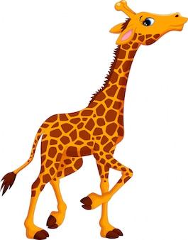 Niedlicher giraffen-cartoon
