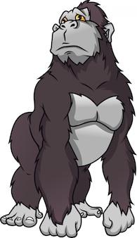 Niedlicher gorilla-cartoon