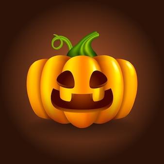 Niedlicher halloween-kürbis des realistischen stils