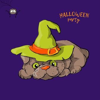 Niedlicher hundecharakter der karikatur ein halloween.
