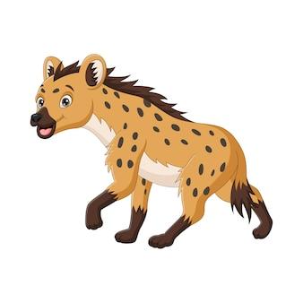 Niedlicher hyänenkarikatur