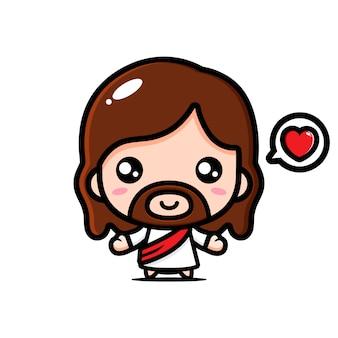 Niedlicher jesus christus vektorentwurf