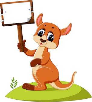 Niedlicher känguru-cartoon