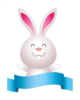 Niedlicher kaninchen-cartoon