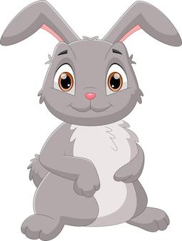 Niedlicher kaninchenkarikatur